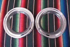1957 1958 CHEVROLET CAMEO TRUCK ACCESSORY HUBCAPS TRIM BEAUTY RINGS CHEVY GM