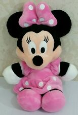 """Disney Minnie Mouse  Plush Doll Toy 12"""" Pink Dress and Bow Soft"""