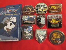 Disney Parks Soarin' Mystery Box 9 Pin Complete Set France Monument Valley Figi+