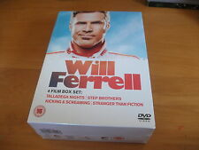 NEW SEALED 4 DVD BOX SET Will Ferrell Film Talladega Knight Step Brother Kicking