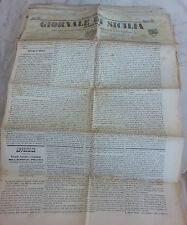 Giornale di Sicilia officiale anno XII n° 228 (7 ottobre 1874) bollo Palermo 1 c