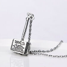 CIONDOLO THOR COLLANA NECKLACE MARTELLO HAMMER MJOLNIR COMICS COSPLAY CINEMA #1