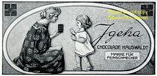 Igeha Schokolade Hauswaldt Reklame 1910 Mutter Tochter Kind Neustadt Werbung +