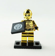 Minifigures Machine Chromed Limited Edition Gift Star Wars C-3PO Building Toys