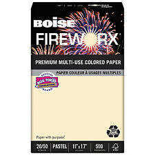 Boise FIREWORX Colored Paper 20lb 11 x 17 Flashing Ivory 500 Sheets/Ream