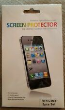 3 Pack Screen Protector for HTC One S Protective Optical Enhancement