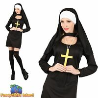 SEXY NUN SISTER HEN NIGHT RELIGIOUS UK 6-24 Adults Ladies Fancy Dress Costume