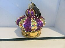 Crown of Royalty  Old World Christmas  glass ornament
