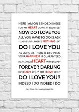 Frank Wilson - Do I Love You - Song Lyric Art Poster - A4 Size