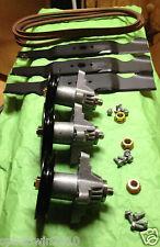 """K011 Cub Cadet 54"""" SLT 1554 SLTX 1054 Rebuild Kit Blades Spindles Belt"""