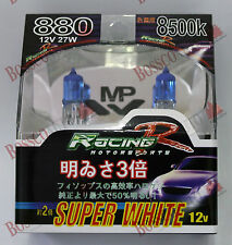 RACING R SUPER WHITE 12V 35W 8500k HEADLIGHT GLOBE 880 #10087