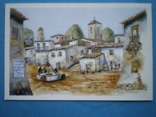 POSTCARD WORCESTERSHIRE ANDALUSIAN VILLAGE HALL WATERCOLOUR