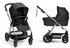 Mamas & Papas 2016 Sola 2 Stroller and Bassinet in Black Brand New Free Shipping