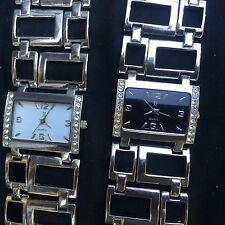 lot of 2 uni-sex JJ wrist watches analog quartz with lots of bling factor