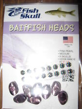 8 NEW Fish Skull Weighted Heads Medium Size for all Salmon & Saltwater Flies PP