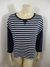 Ann Taylor Loft NWT Blue/White 3/4 Sleeve Woman Top Blouse Sweater Size M