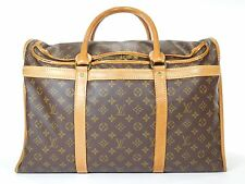 Louis Vuitton Sac Chien Duffle Bag Luggage Suitcase Leather Travel Keepall GN213