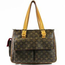 Authentic Louis Vuitton Multipli Cite GM Shoulder Bag in Brown Monogram Canvas