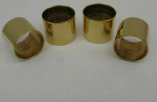 4  PLAIN BRASS COLLARS FOR WALKING STICKS - 22mm, 23 mm, 24mm & 25 mm size