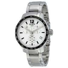 Tissot Quickster Chronograph Silver Dial Stainless Steel Mens Sports Watch