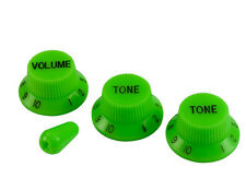 VAI SLIME GREEN KNOB SET & TIP GREEN (1V 2T) FOR FENDER/CHARVEL USA GUITARS