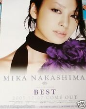 "MIKA NAKASHIMA ""BEST"" JAPANESE PROMO POSTER - Japan J-Pop Music, Actress/Singer"