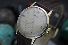 Vintage APLINA Cal. 586 Hand Wind 10K Solid Yellow Gold Midsize Dress Watch