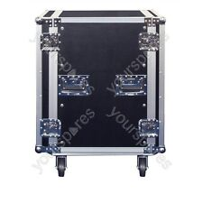 SoundLAB Black High Quality 16U Rack Case On Wheels With Removable front and rea
