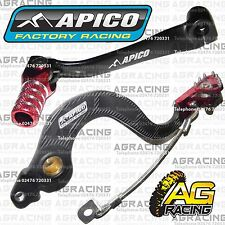 Apico Black Red Rear Brake & Gear Pedal Lever For Honda CRF 150R 2016 Motocross