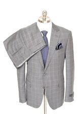 PAL ZILERI Black Label 169 of 180 Plaid Wool 2Btn Flat Front Suit 54 7R 44 R NWT