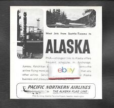 PNA PACIFIC NORTHERN AIRLINES 1965 MOST BOEING 720 JETS FROM SEATTLE/TACOMA AD