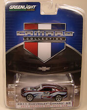 GREENLIGHT 1:64 SCALE DIECAST METAL SILVER 2011 CAMARO SS DAYTONA 500 PACE CAR