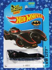 Batman Hot Wheels Tim Burton Batmobile Die Cast Car Toy HW City Series New MISP