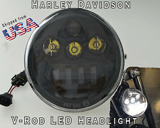HARLEY VRSC Vrod V-rod LED Headlight Daymaker V rod 2002-2016 BLACK