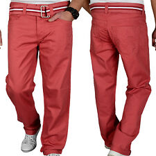 $75 NEW 96 NORTH Men's Chino Coral Jeans Sz 34/30