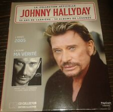 JOHNNY HALLYDAY LIVRE + CD DE LA COLLECTION OFFICIELLE MA VERITE