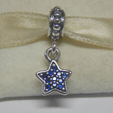 Authentic Pandora 791024CZB Dangle Blue Pave Star Box Included