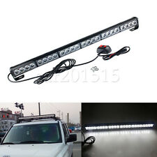 27Inch 24 LED Emergency Advisor Strobe Beacon Safety Warning Light Bar white