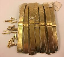 Lot Of 9 NOS High End Replacement Curved Stainless Steel Watch Band 18mm SALE!!!