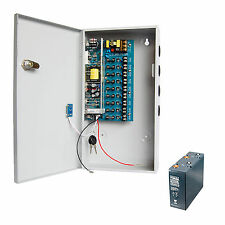 CCTV 12V 8A 9ch Switching Power Supply with Backup
