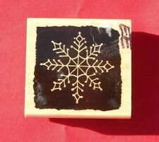 REVERSE SNOW FLAKE 2004 BY PENNY BLACK RUBBER STAMP