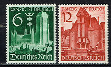 Germany Danzig in Reich set 1939 492-93 MLH