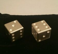 1 oz .999 Silver Dice (2 oz total) art bar, with bag and coa, craps poker casino