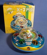 MASUDAYA Space Ship X-7 Flying Saucer Japan Tin Toy OVP Boxed Blech UFO A163
