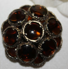 CROWN TRIFARI SIGNED BROWN GRIPOIX PIN/PENDANT RARE COLOR AND EXCELLENT!!!
