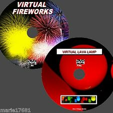 RELAXING VIRTUAL LAVA LAMP & FIREWORKS GREAT TWIN  DVD SET FORTV/PC NEW