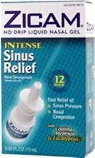 Zicam Intense Sinus Relief Liquid Nasal Gel 0.50 oz (Pack of 8)