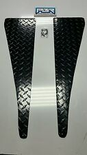 Jeep Wrangler TJ Black Powder Coated Diamond Plate Fender Top Cover set flat