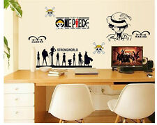 Animation One Piece Japanese Anime Mural Decal Wall Sticker Home Decor Vinyl Art