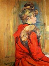 HENRI DE TOULOUSE LAUTREC GIRL WITH FUR STUDY ART PRINT 1275OMA